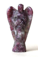 Load image into Gallery viewer, Lepidolite Hand Carved Angel Crystal - Krystal Gifts UK