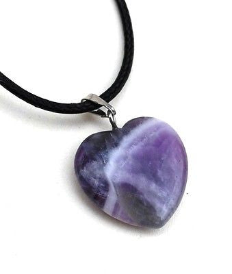 Amethyst Crystal Heart Pendant - Krystal Gifts UK
