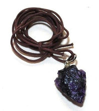 Load image into Gallery viewer, Amethyst Raw Crystal Arrowhead Pendant Gift Wrapped - Krystal Gifts UK