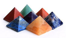 Load image into Gallery viewer, Set of Seven Crystal Chakra Healing Pyramids - Krystal Gifts UK