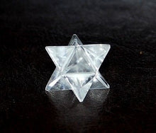 Load image into Gallery viewer, Clear Quartz Hand Cut Crystal Merkaba Star - Krystal Gifts UK
