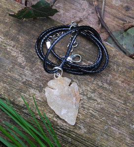 Natural Raw Yellow Jade Crystal Stone Pendant Necklace
