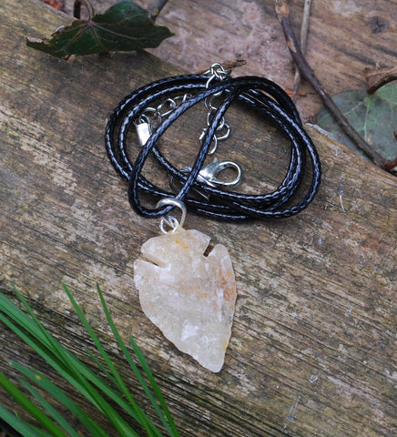 New! Natural Raw Yellow Jade Crystal Stone Pendant Necklace