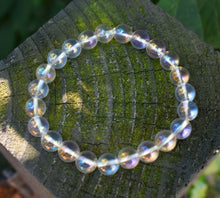 Load image into Gallery viewer, New! Natural Polished Clear Aura Quartz Crystal Stone Beads Bracelet