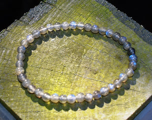 New! AA Grade Labradorite Beads Natural Crystal Stone Beaded Bracelet