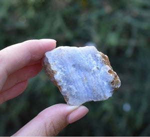New! Natural Blue Lace Agate Raw Crystal Stone Chunk Piece