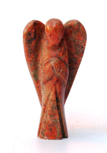 Natural Unakite Crystal Stone Polished Healing Angel Figure