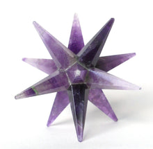 Load image into Gallery viewer, Amethyst Large Crystal Twelve Point Merkaba Star - Krystal Gifts UK