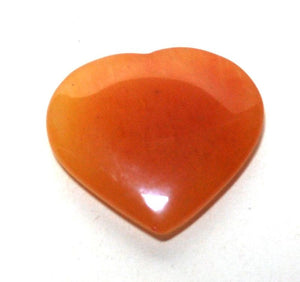 Orange Jade Heart Crystal Stone - Krystal Gifts UK
