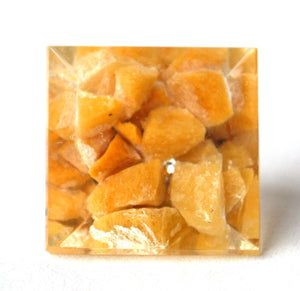 Yellow Jade Orgone Crystal Chips Pyramid - Krystal Gifts UK