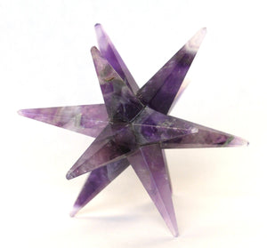 Amethyst Large Crystal Twelve Point Merkaba Star - Krystal Gifts UK