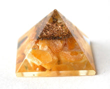 Load image into Gallery viewer, Yellow Jade Orgone Crystal Chips Pyramid - Krystal Gifts UK