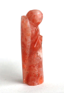 Reiki Energy Charged Sunstone 5cm Angel Natural Crystal Stone Healing Uplifting - Krystal Gifts UK