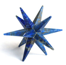 Load image into Gallery viewer, Lapis Lazuli Large Crystal Twelve Point Merkaba Star - Krystal Gifts UK