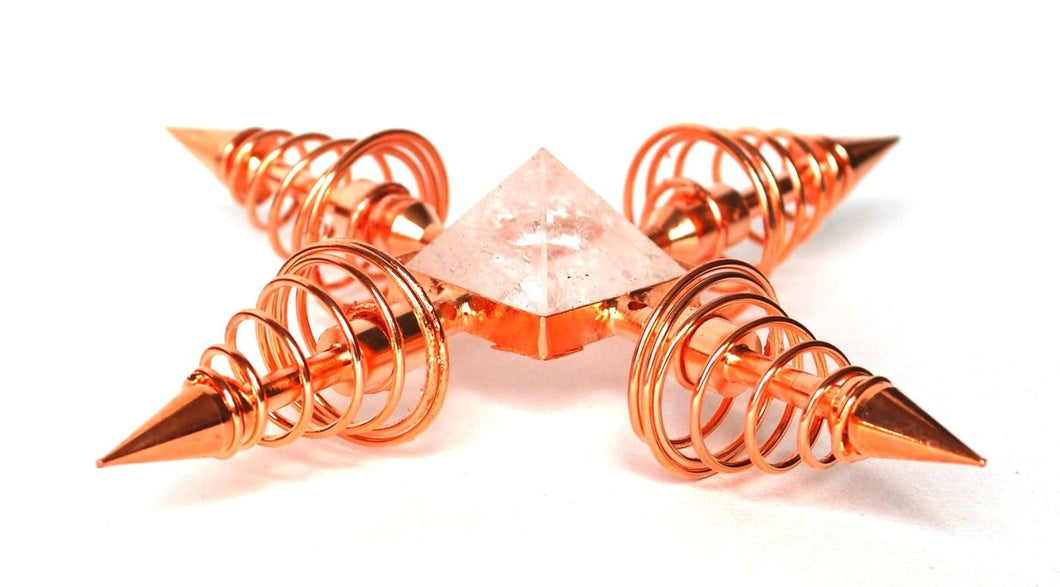 Copper & Clear Quartz Crystal Energy Generator - Krystal Gifts UK