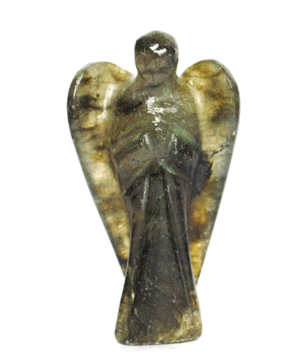 Hand Carved Labradorite Crystal Angel - Krystal Gifts UK
