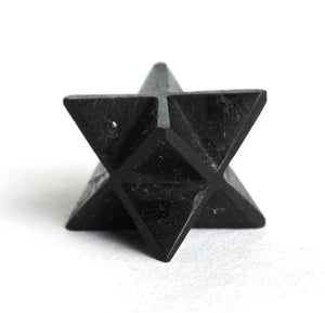 "Black Tourmaline Crystal ""Electric Stone"" Hand Cut Merkaba Star Healing - Krystal Gifts UK"