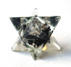 Black Tourmaline Crystal Orgone Merkaba Star - Krystal Gifts UK