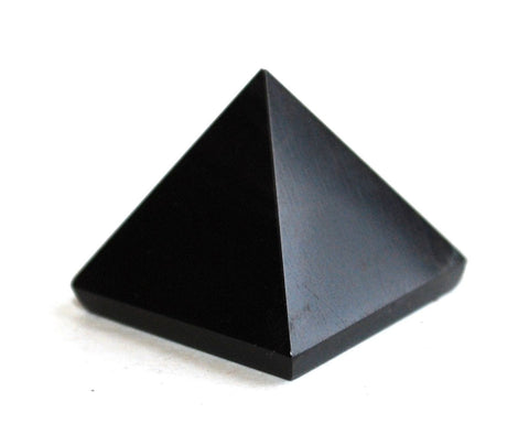 Black Obsidian Crystal Pyramid - Krystal Gifts UK