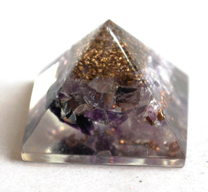 Amethyst Crystal Orgone Pyramid - Krystal Gifts UK