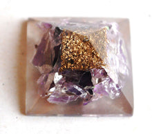 Load image into Gallery viewer, Amethyst Crystal Orgone Pyramid - Krystal Gifts UK