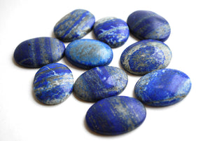 Lapis Lazuli Crystal Palm Stone - Krystal Gifts UK