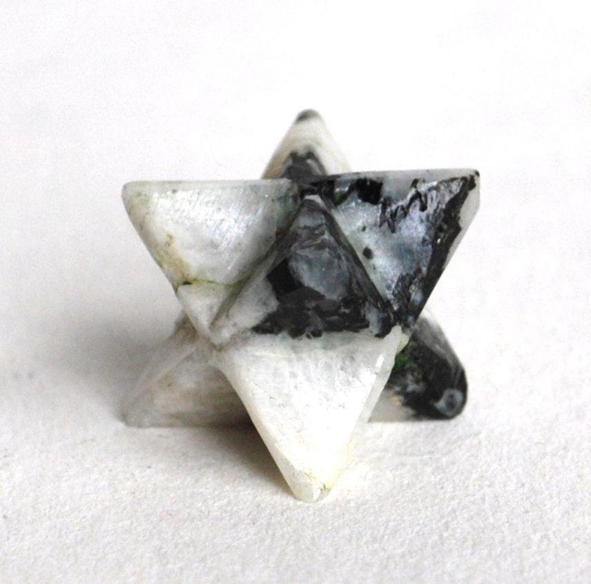 Rainbow Moonstone Crystal Merkaba Star - Krystal Gifts UK