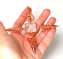 Load image into Gallery viewer, Copper & Clear Quartz Crystal Energy Generator - Krystal Gifts UK