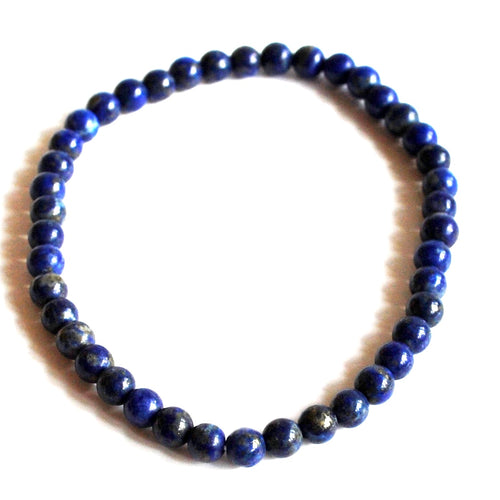 Lapis Lazuli Natural Crystal Stone Beaded Bracelet
