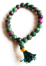 Load image into Gallery viewer, Ruby & Fuschite Natural Crystal Stone Beaded Power Bracelet