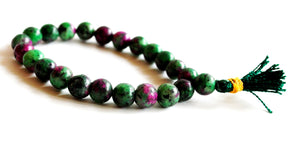 Ruby & Fuschite Natural Crystal Stone Beaded Power Bracelet