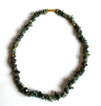 Load image into Gallery viewer, Moss Agate Crystal Stone Chips Necklace
