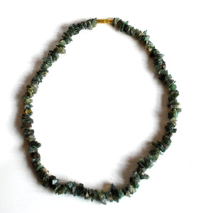 Moss Agate Crystal Stone Chips Necklace