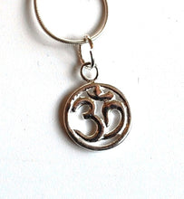 Load image into Gallery viewer, OM Symbol Sterling Silver Pendant & Necklace