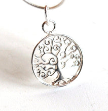 Load image into Gallery viewer, Tree Of Life Small Sterling 925 Silver Pendant & Necklace Chain