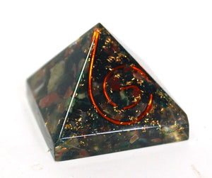 Bloodstone Small Crystal Chip Orgone Pyramid