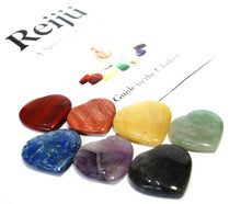 Load image into Gallery viewer, New! Natural Polished Chakra Healing Crystal Heart Palm Stones Set