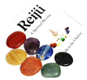 Natural And Unique Chakra Palm Stone Crystal Healing Set Of Seven