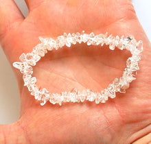 Load image into Gallery viewer, Clear Quartz Natural Crystal Stone Chips Bracelet