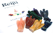 Load image into Gallery viewer, Chakra Angel Set Of 7 Hand Carved Crystals - Beautifully Gift Wrapped