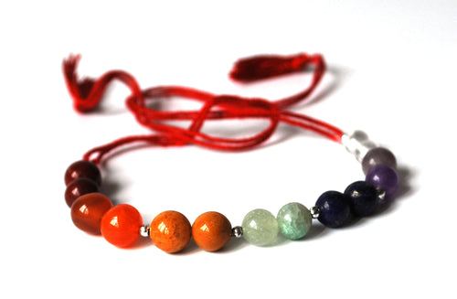 Chakra Crystal Beaded Friendship Bracelet/Anklet - Krystal Gifts UK