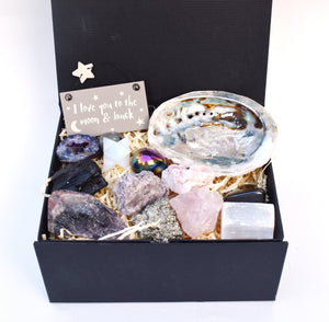 New! Beautiful Inside & Out Natural Crystals Gemstones 14 Piece! Gift Set Box