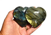 Load image into Gallery viewer, New! Large Double Labradorite Natural & Unique Crystal Stone Heart Fully Polished