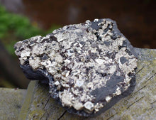 Load image into Gallery viewer, New! Natural Gold Pyrite Crystal Stone Polished Raw Piece 480g