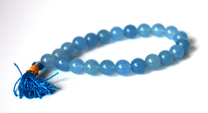 Aquamarine Beaded Crystal Stone Bracelet