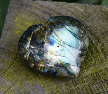 Load image into Gallery viewer, New! Large Labradorite Natural & Unique Crystal Stone Heart Fully Polished