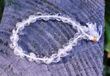 Load image into Gallery viewer, New! Natural Clear Quartz Crystal Stone Polished Beads Power Bracelet