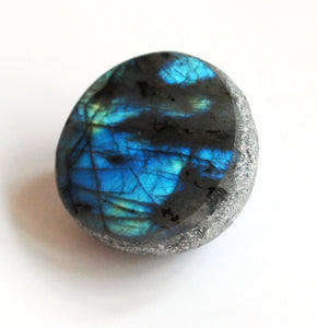 Natural Labradorite Crystal Stone Polished Face Dragon Egg