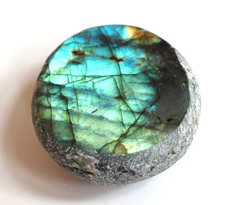 New! Natural Labradorite Crystal Stone Dragon Egg