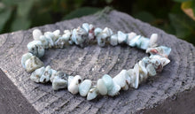 Load image into Gallery viewer, New! Natural Larimar Crystal Stone Chips Meditation Mental Health Bracelet